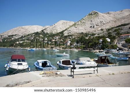 Mediterranean sea Stara Baska Krk Croatia - stock photo