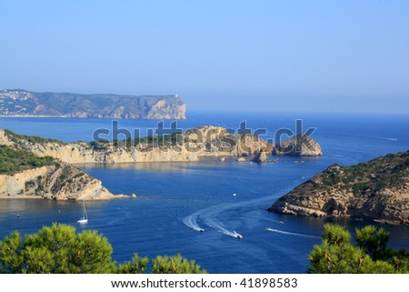 Mediterranean spanish coast, a place to relax and to fun - stock photo