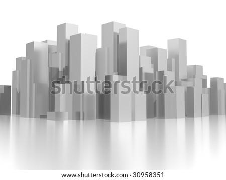 medium city - stock photo