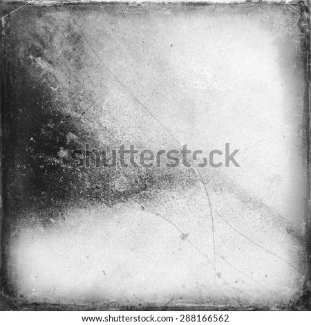 Medium format film frame with grain textured background - stock photo