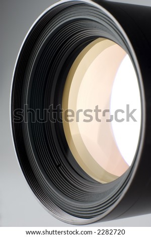 medium photo camera lens close up shoot - stock photo
