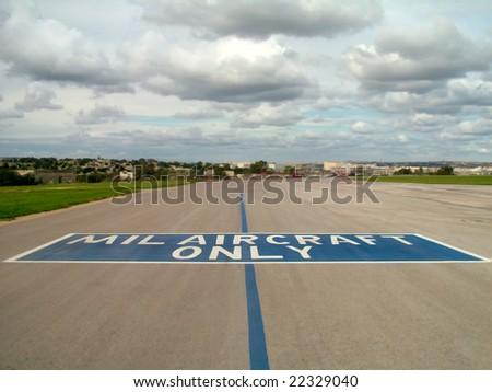Medium to Light aircraft runway strip - stock photo