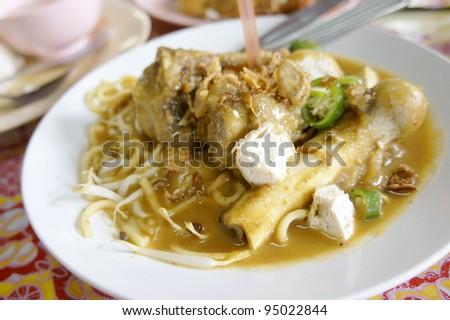 Mee Rebus Tulang, famous dish among Malaysian. - stock photo