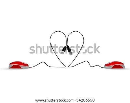 meet the love online - stock photo