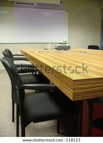 meeting and presentation room - stock photo