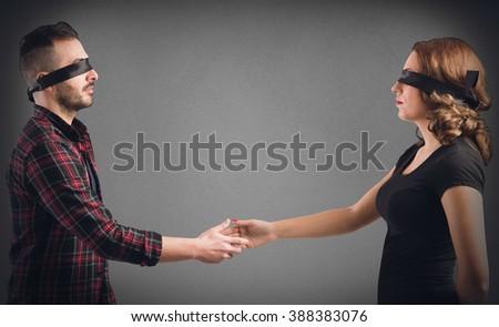 Meeting between strangers - stock photo