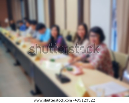 Meeting Blurred background in a Meeting room