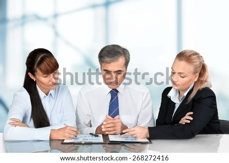 Meeting, Business, Casual. - stock photo
