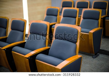 Meeting chair in office - stock photo