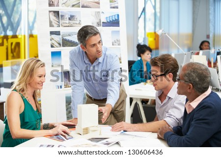 Meeting In Architects Office - stock photo