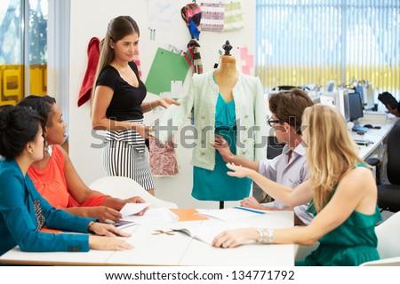 Meeting In Fashion Design Studio - stock photo