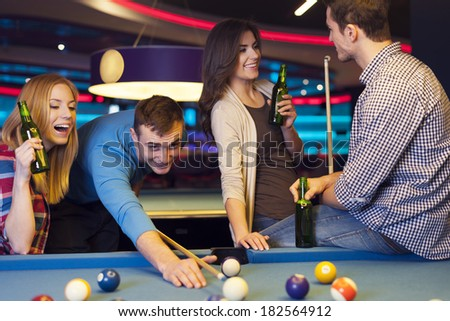 Meeting of young people in nightclub - stock photo