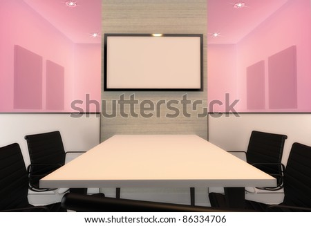 Meeting Room Presentation LED Screen Stock Illustration 86334706 ...
