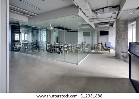 Meeting Zone Office Loft Style White Stock Photo Royalty