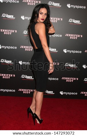 """Megan Fox  arriving at the  Jennifers Body"""" Comic-Con Party in the Kin Lounge at the  Manchester Grand Hyatt Hotel in San Diego, CA, United States  on July 23, 2009 - stock photo"""