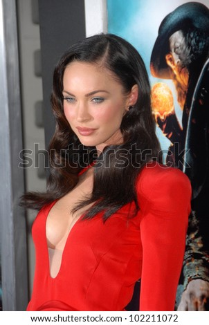 "Megan Fox at the ""Jonah Hex"" Los Angeles Premiere, Cinerama Dome, Hollywood, CA. 06-17-10 - stock photo"