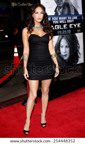 """Megan Fox at the Los Angeles Premiere of """"Eagle Eye"""" held at the Grauman's Chinese Theater in Hollywood, California, United States on September 16, 2008.  - stock photo"""