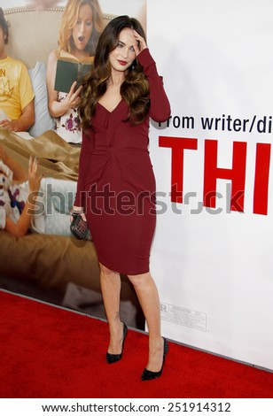 """Megan Fox at the Los Angeles premiere of """"This Is 40"""" held at the Grauman's Chinese Theatre in Los Angeles, California, United States on December 12, 2012. - stock photo"""