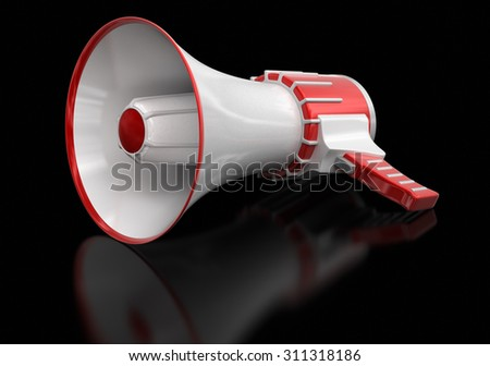 Megaphone (clipping path included)