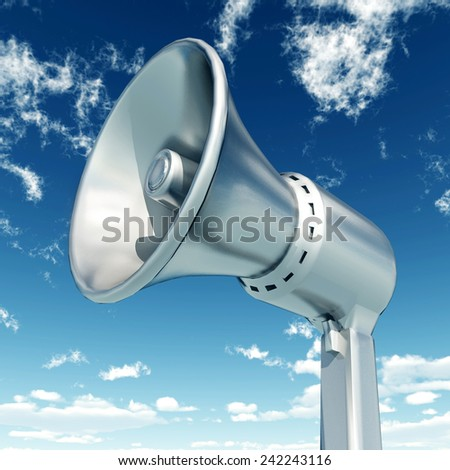 Megaphone Computer generated 3D illustration - stock photo