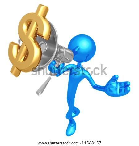 Megaphone Dollar - stock photo