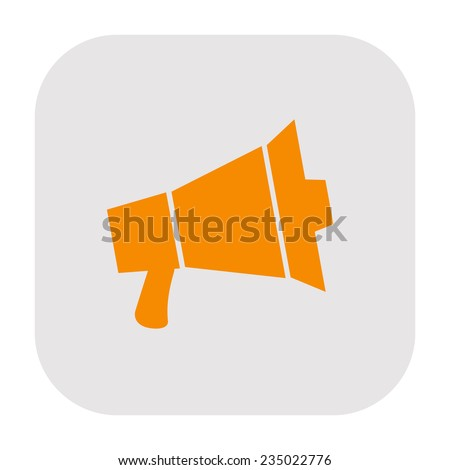 Megaphone icon - stock photo