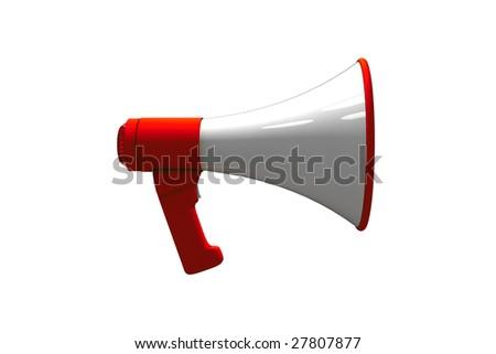 megaphone - isolated illustration on white - stock photo