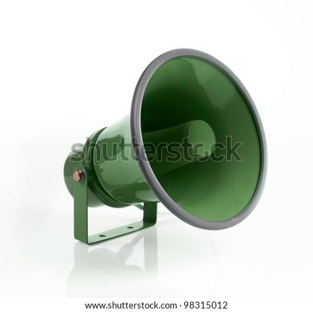 megaphone on white background - stock photo