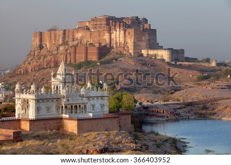 Mehrangarh Fort in Jodhpur, Rajasthan, India