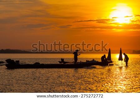 Mekong river, Laos - stock photo