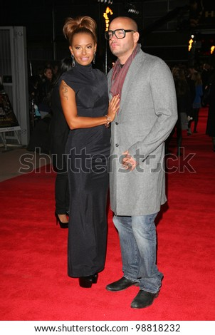 Mel B and Stephen Belafonte arriving at the European Premiere of 'The Hunger Games' at the O2 Arena, London. 14/03/2012 Picture by: Alexandra Glen / Featureflash