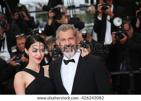 Mel Gibson  and Rossalind Ross  attend the Closing Ceremony of the 69th annual Cannes Film Festival at the Palais des Festivals on May 22, 2016 in Cannes, France.