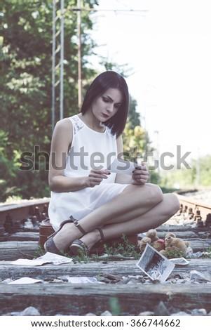 Melancholic day  - stock photo