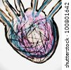 melancholics heart illustration - stock photo