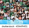 MELBOURNE, AUSTRALIA - JANUARY 27: Crowd watch a tennis game at the 2010 Australian Open at Rod Laver Arena on January 27, 2010 in Melbourne, Australia - stock photo