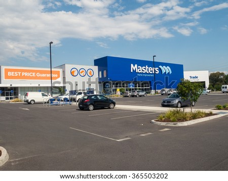 Melbourne, Australia - January 20, 2016: Masters Home Improvement is an Australian hardware and home improvement store chain owned by Woolworths and Lowe's. This is the Hawthorn East store.