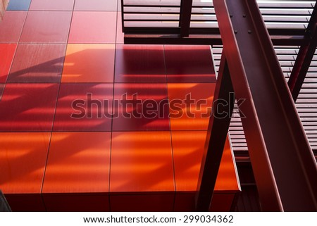 MELBOURNE, AUSTRALIA, 21 July 2015. Abstract Modern Architecture Detail in the City of Melbourne.  - stock photo