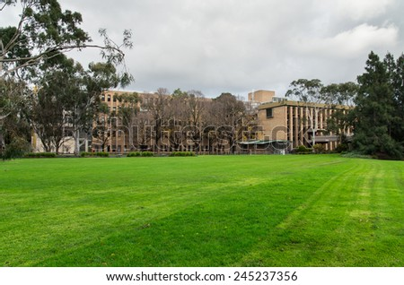 MELBOURNE, AUSTRALIA - July 6, 2014: the Bundoora campus of La Trobe University has 22,000 students. - stock photo