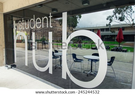 MELBOURNE, AUSTRALIA - July 6, 2014: the Bundoora campus of La Trobe University has 22,000 students. - stock photo