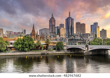 Melbourne, Australia on 26th January 2016: Melbourne City Center  is an area of Melbourne, Victoria. It is the area in which Melbourne was established in 1835, by John Batman and John Pascoe Fawkner