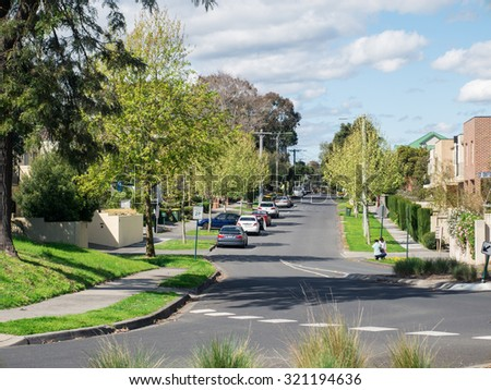 Suburb Street Stock Images Royalty Free Images Vectors