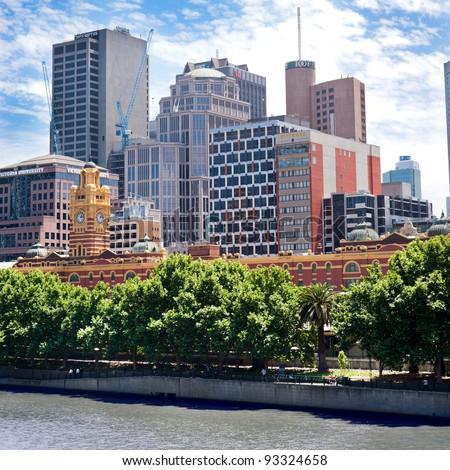 Melbourne city - Victoria - Australia - stock photo
