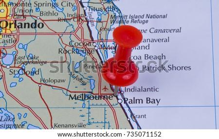 Pin Marked Parnaiba On Map Brazil Stock Photo 759347011 Shutterstock