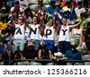 MELBOURNE - JANUARY 17: Andy Murray fans at the 2013 Australian Open on January 17, 2013 in Melbourne, Australia. - stock photo