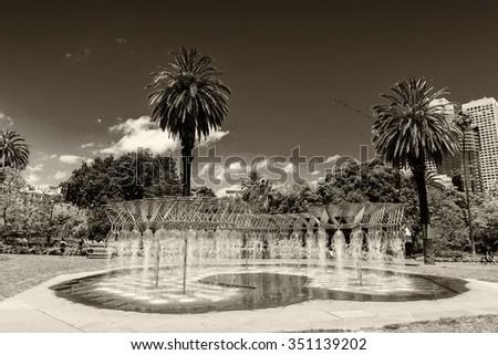 Melbourne, Victoria - Australia. Beautiful city skyline. - stock photo