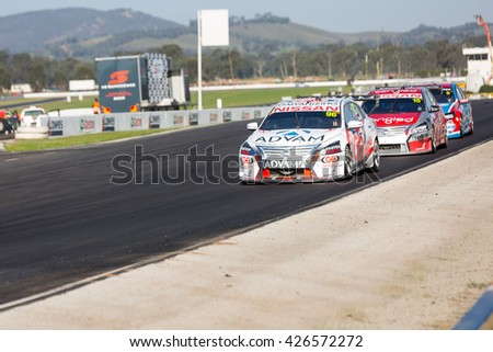 MELBOURNE, WINTON/AUSTRALIA, 22 MAY , 2016: Virgin Australia Supercars Championship  - Dale Wood (GB Galvanizing Racing) during race 11 at Winton.