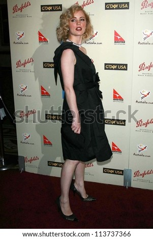 Melissa George at the G'Day USA Penfolds Black Tie Icon Gala. Hyatt Regency Century Plaza, Los Angeles, CA. 01-13-07 - stock photo