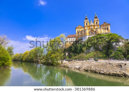 Melk abbey - unesco heritage site in Austria - stock photo