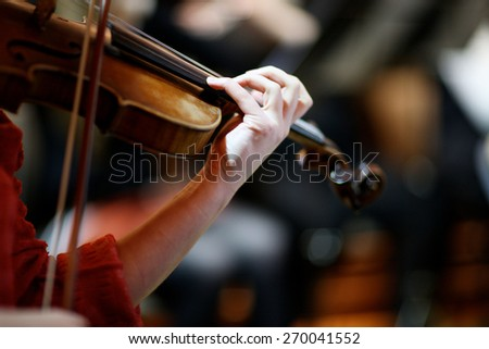 Melody of the violin - stock photo
