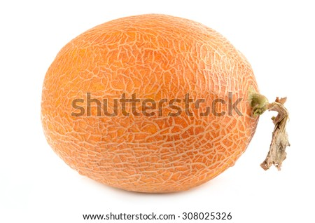 Melon on a white background